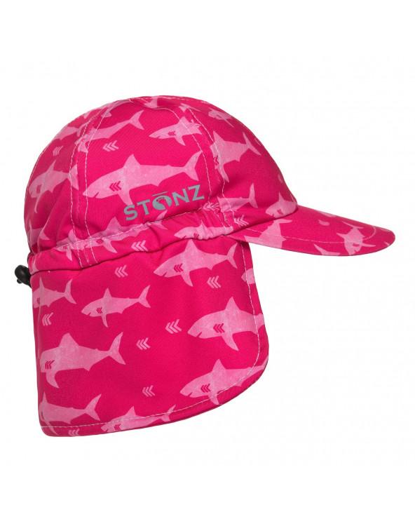 KINDER SONNENHUT UPF 50 - Fuchsia Shark Mützen & Hüte Stonz®