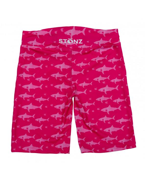 KINDER SHORTS BADEHOSE UPF 50 - Fuchsia Shark Shorts Stonz®