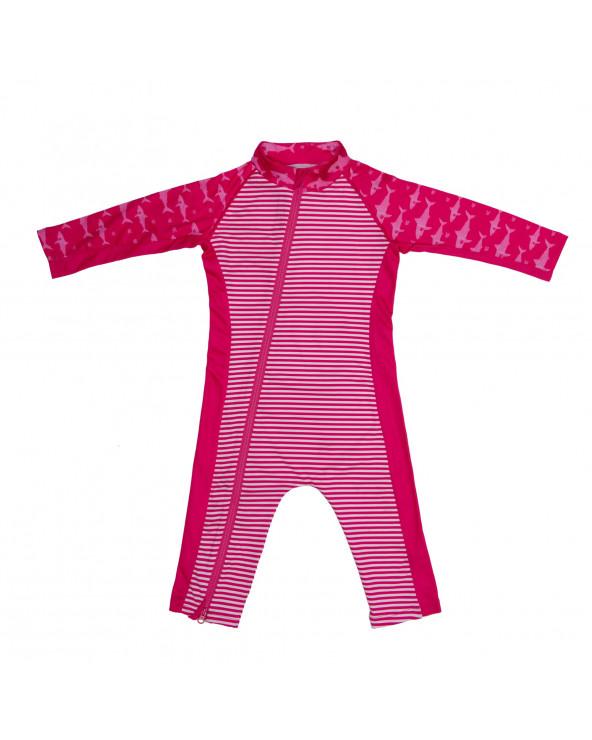 Sonnenanzug UPF 50 - Fuchsie/Hai Overalls Stonz®