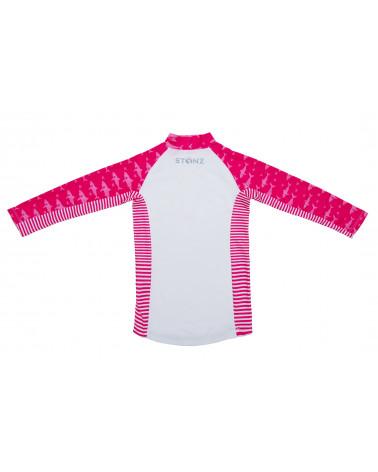 KINDER UV-LANGARMSHIRT UPF 50 - Fuchsia Shark T-Shirts & Langsarmshirts Stonz®