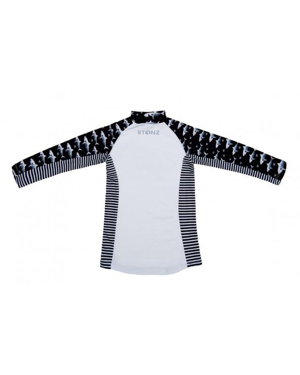 Kindertop UPF 50 - Schwarz/Hai T-Shirts & Langsarmshirts Stonz®