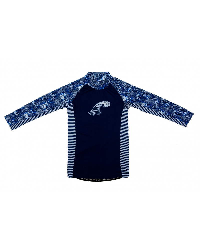 Kindertop UPF50 - Marine/Welle T-Shirts & Langsarmshirts Stonz®