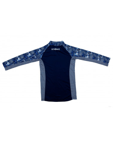 KINDER UV-LANGARMSHIRT UPF 50 - Navy Wave T-Shirts & Langsarmshirts Stonz®