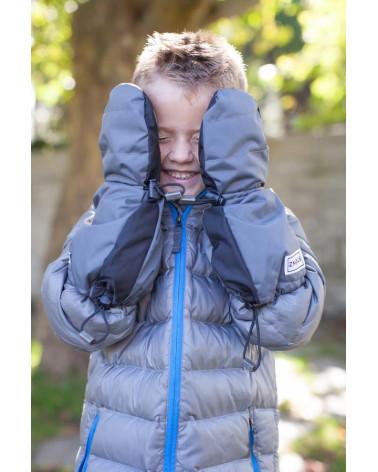KINDER WINTERHANDSCHUHE FÄUSTLINGE - POLKA DOT BROWN Jugend Handschuhe Stonz®