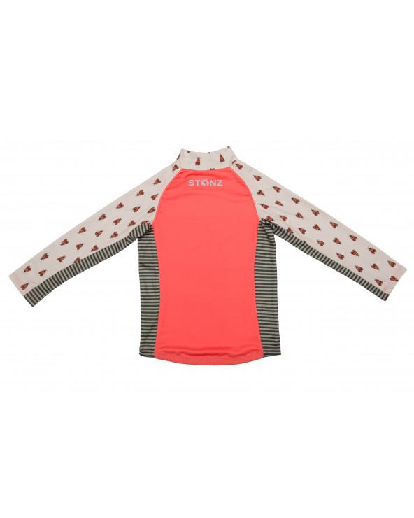 KINDER UV-LANGARMSHIRT UPF 50 - Forest Trail Coral T-Shirts & Langsarmshirts Stonz®