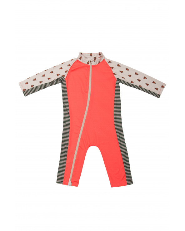 KINDER UV-OVERALL BADEANZUG UPF 50 - Forest Trail Coral Overalls Stonz®