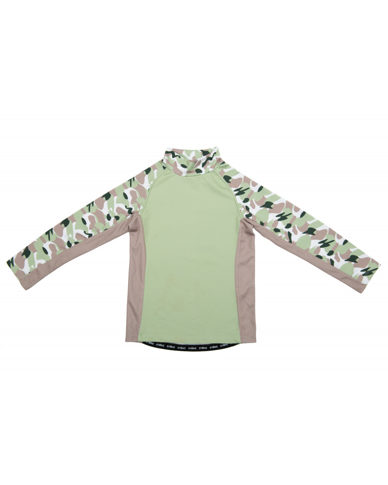 KINDER UV-LANGARMSHIRT UPF 50 - Camo Green T-Shirts & Langsarmshirts Stonz®