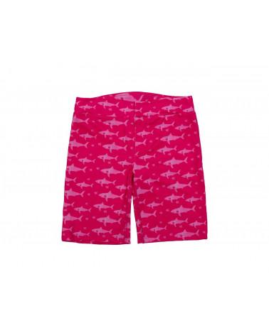KINDER UV-SHORTS BADEHOSE UPF 50 - Fuchsia Shark Shorts Stonz®