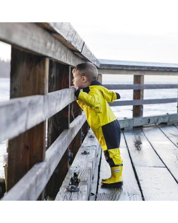 KINDER ÜBERGANGSOVERALL REGENANZUG - Yellow Regenanzugen Stonz®