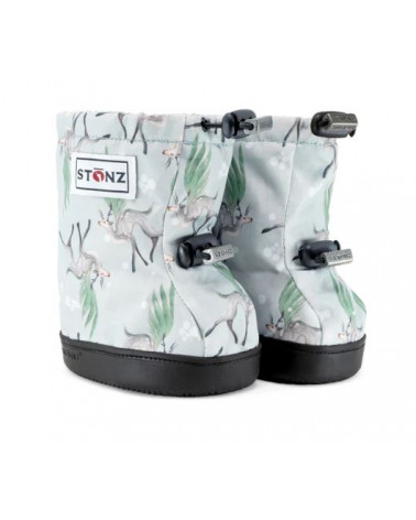 TODDLER BOOTIES - MAGIC DEER - GREEN/GREY Toddler Booties Stonz®