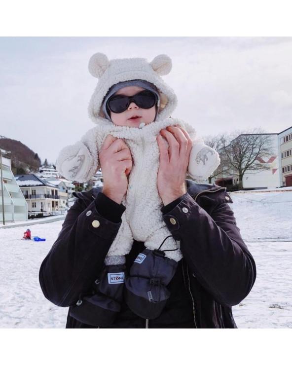 BABY BOOTIES - MOUSTACHE GREY Baby Booties Stonz®