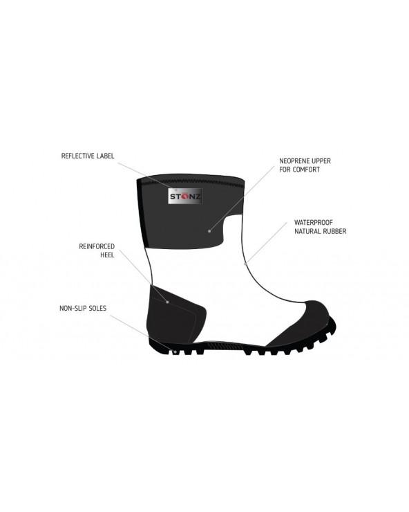 KINDER NEOPRENSTIEFEL WEST - BLACK Multi-Saison Stiefel West Stonz®
