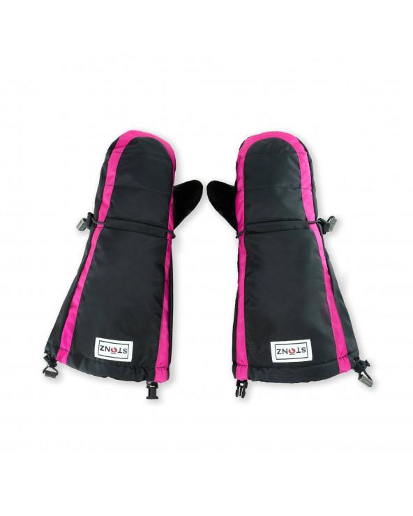Sold Out          KINDER WINTERHANDSCHUHE FÄUSTLINGE - PINK/BLACK Jugend Handschuhe Stonz®