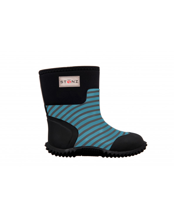 Sold Out          KINDER NEOPRENSTIEFEL WEST - STRIPES BLUE Multi-Saison Stiefel West Stonz®