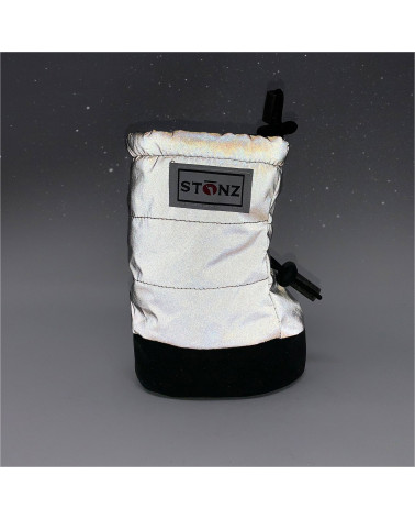 BABY PUFFER BOOTIES - REFLECTIVE SILVER Baby Booties Stonz®