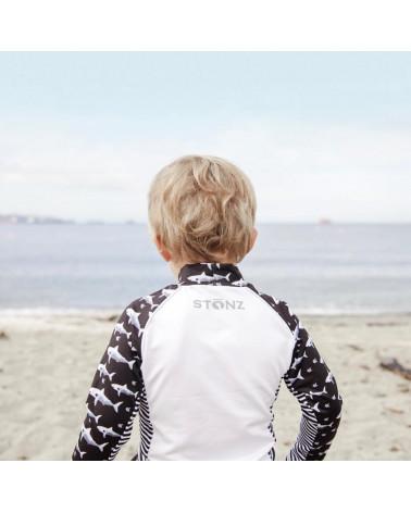 KINDER UV-LANGARMSHIRT UPF 50 - Black Shark T-Shirts & Langsarmshirts Stonz®