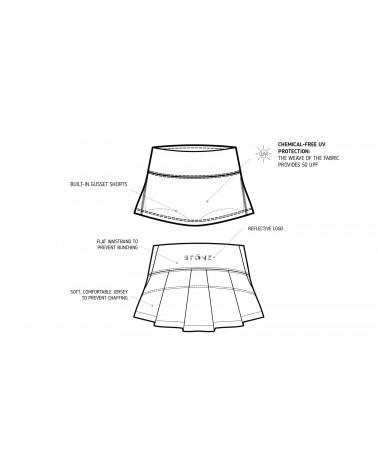 KINDER UV-ROCK MIT SHORTS 2in1 UPF 50 - Black Röcke Stonz®