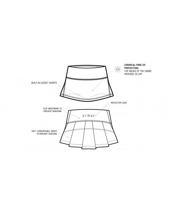 KINDER UV-ROCK MIT SHORTS 2in1 UPF 50 - Forest Trail Stripes Röcke Stonz®