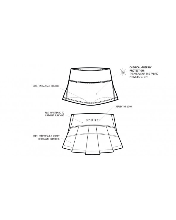 KINDER UV-ROCK MIT SHORTS 2in1 UPF 50 - Black Shark Röcke Stonz®