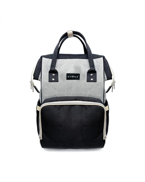 MOMMY URBAN BACKPACK WICKELRUCKSACK - grey/black Wickelrucksack Urban Backpack WICKELRUCKSACK Stonz®