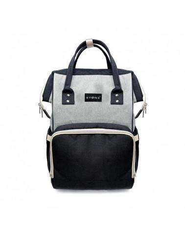 MOMMY URBAN BACKPACK WICKELRUCKSACK - grey/black Wickelrucksack Urban Backpack WICKELRUCKSACK Stonz®