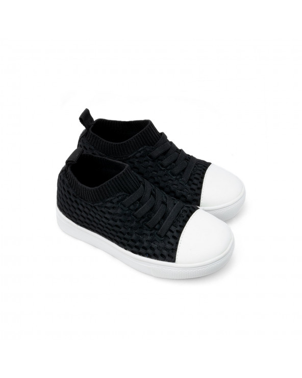 "KINDER SNEAKER ""SHORELINE"" - Black Sneakers Shoreline Stonz®"