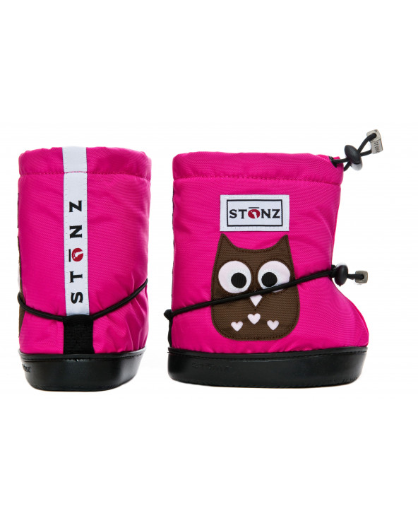 TODDLER BOOTIES - OWL FUCHSIA Toddler Booties Stonz®