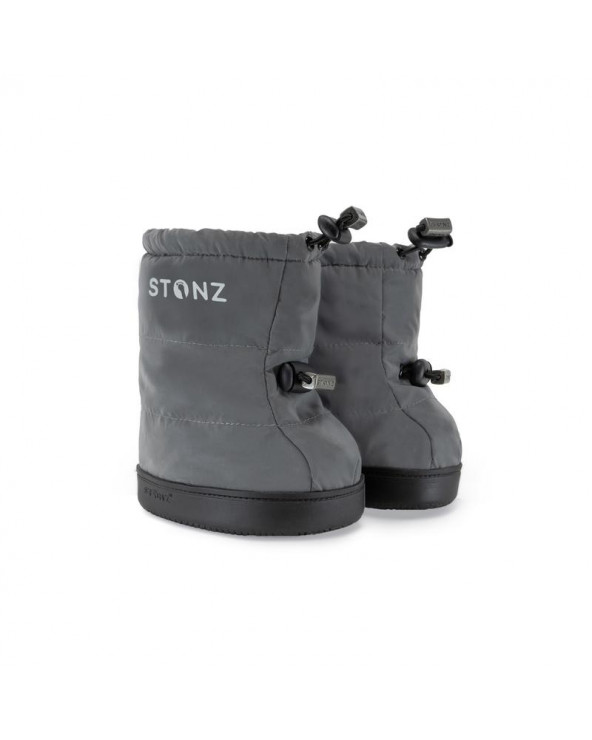 TODDLER PUFFER BOOTIES - REFLECTIVE SILVER Toddler Booties Stonz®