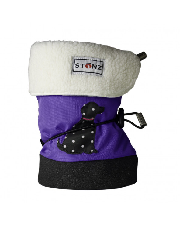 BABY BOOTIES - POLKA DOG PURPLE Baby Booties Stonz®