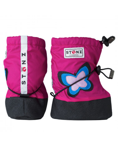 BABY BOOTIES - BUTTERFLY FUCHSIA Baby Booties Stonz®