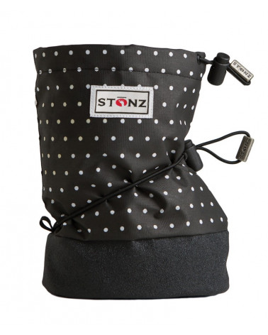 BABY BOOTIES - POLKA DOT BLACK&WHITE Baby Booties Stonz®