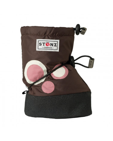 BABY BOOTIES - POLKA DOT BROWN Baby Booties Stonz®