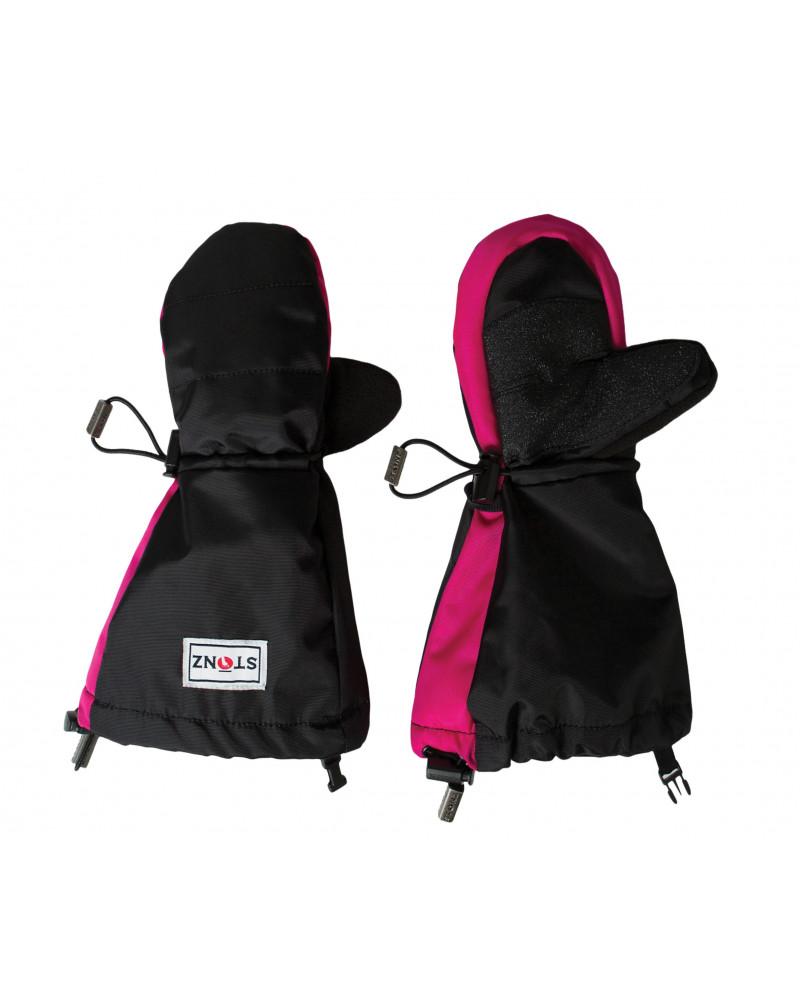 KINDER WINTERHANDSCHUHE FÄUSTLINGE - PINK/SCHWARZ Jugend Handschuhe Stonz®