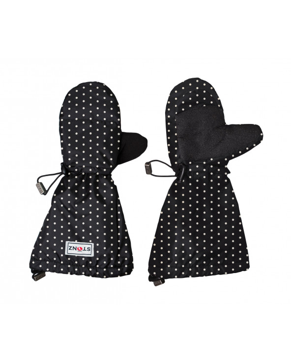 Kinder Mitts - Polka Dot Schwarz&Weiss Jugend Handschuhe Stonz®