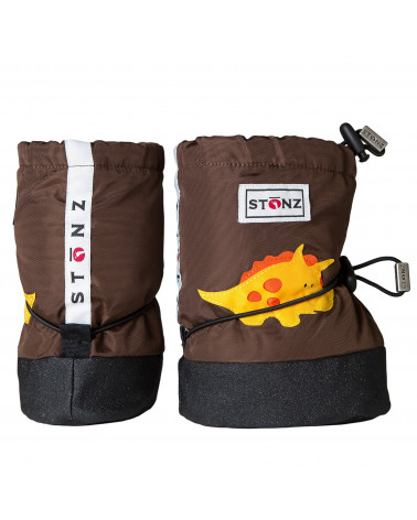 BABY BOOTIES - TRICERATOPS BROWN Baby Booties Stonz®