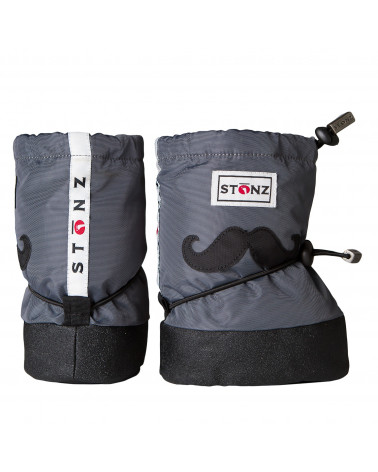 BABY BOOTIES - MOUSTACHE GREY Baby Booties Stonz®