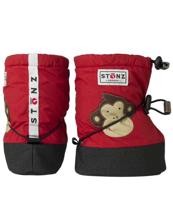 BABY BOOTIES - MONKEY BRICK RED Baby Booties Stonz®